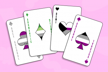 Asexuality Ace Playing Cards