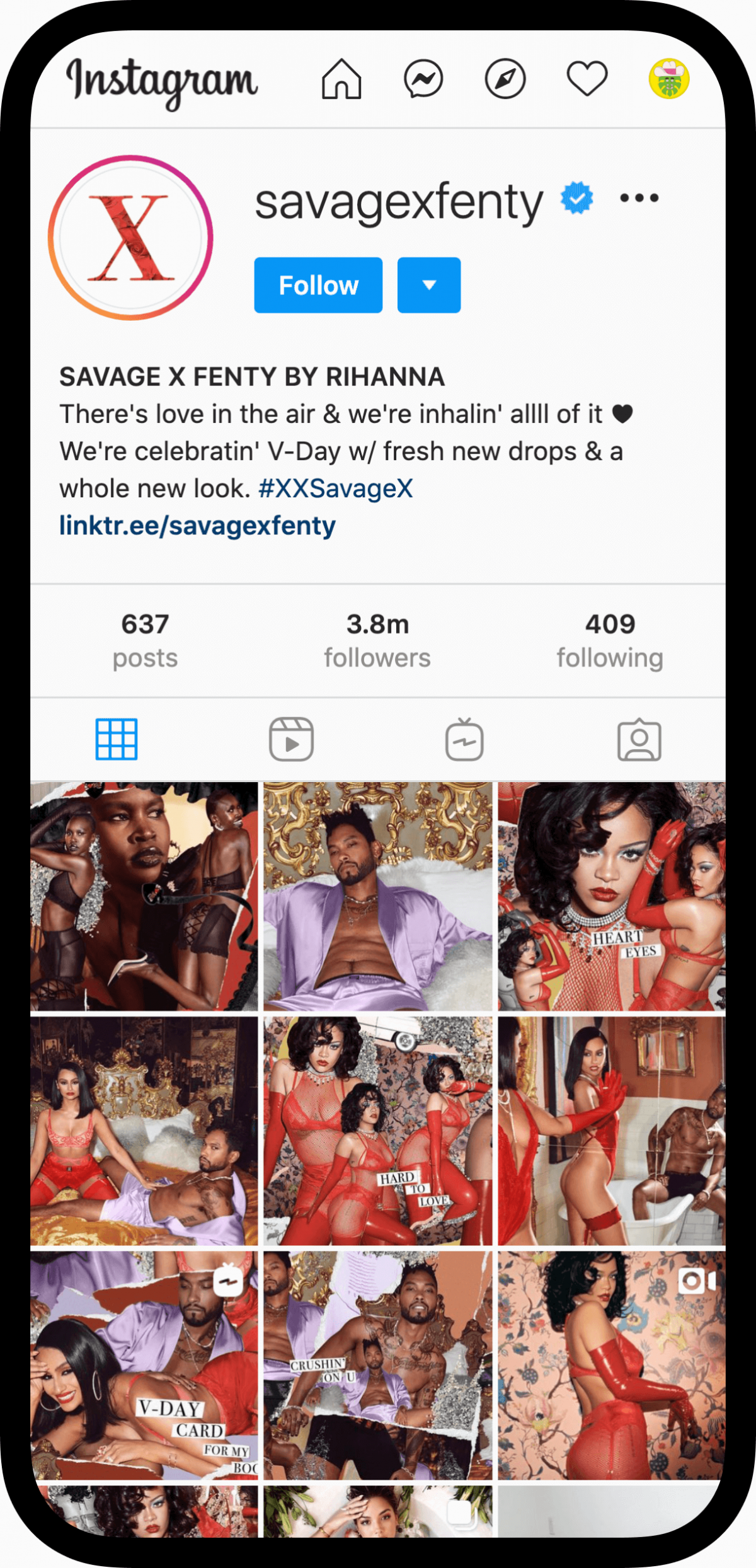 Savage Fenty Instagram