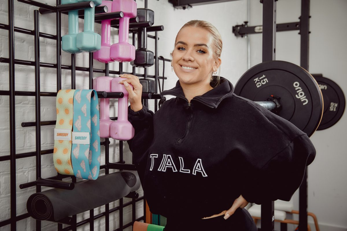 Grace Beverley with Tala workout gear