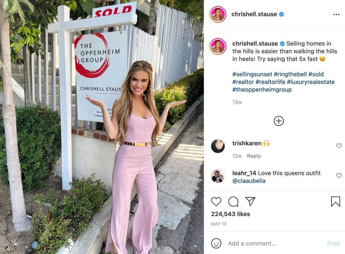 Real estate agents such as Chrishell Stause are taking over social media and TV.